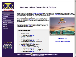 Location Access Map For Blue Beacon Truck Washes
