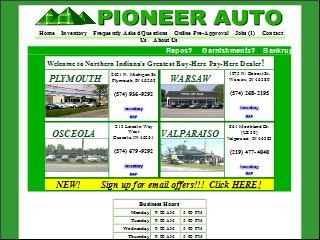 Pioneer Auto Sales >> Pioneer Auto Sales Leasing 861 Morthland Dr Valparaiso